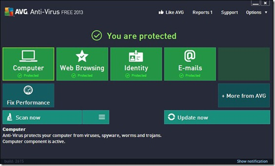 AVG Antivirus Free Edition 2013 thumb Best Free Antivirus Software
