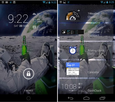 lockscreen with widgets
