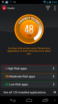 Screenshot 2013 05 29 20 03 22 202x360 Bitdefender Clueful app Review