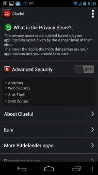Screenshot 2013 05 29 20 03 54 202x360 Bitdefender Clueful app Review