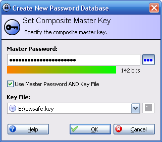 Create new DB in KeePass