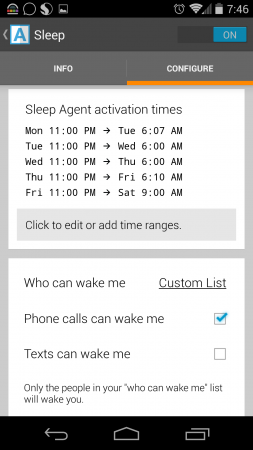 Agent Sleep Setup